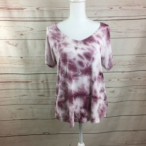 American Eagle Pink White Tie Dye Soft & Sexy Tee